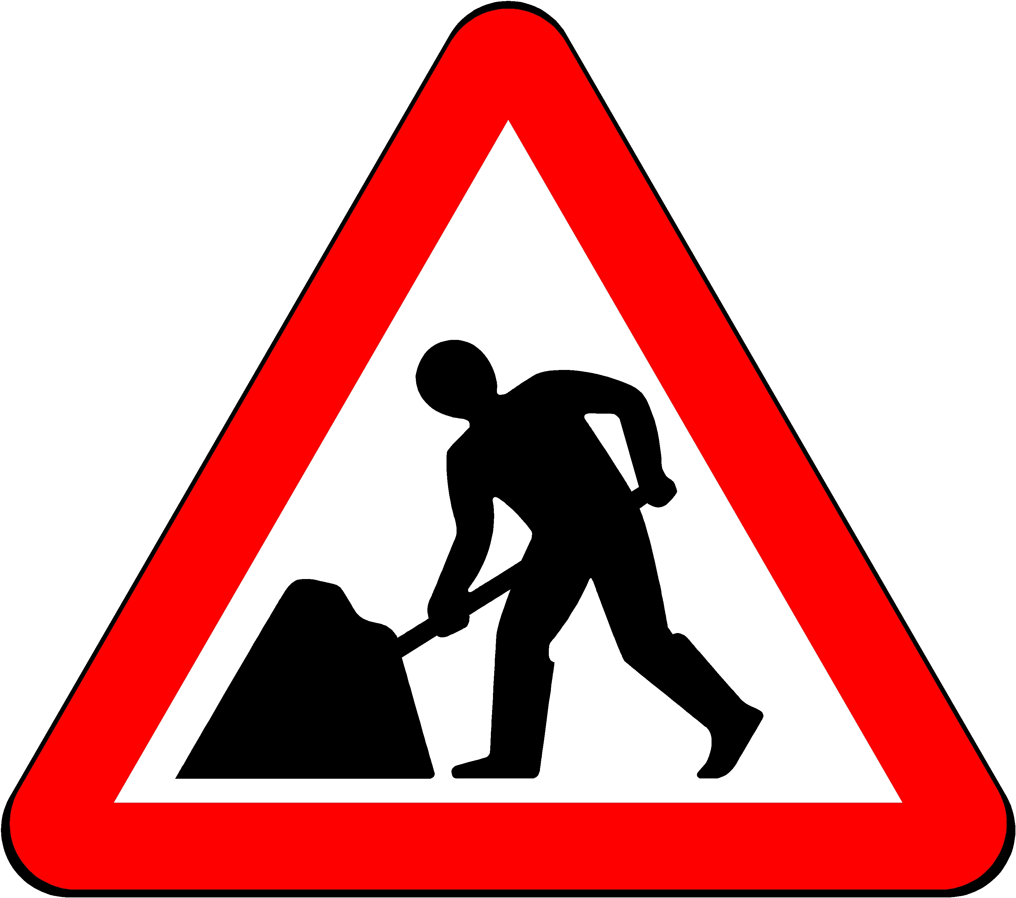 Triangle Road Signs >> Boxer Sign 750mm Triangle Road Works Men At Work 7001 For