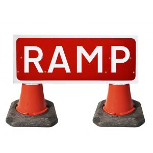 1050x450mm Cone Sign - Ramp - 7013