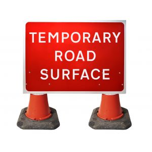 1050x750mm Cone Sign - Temporary Road Surface - 7010.1