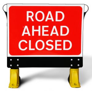 1050x750mm Road Ahead Closed - X-Sign