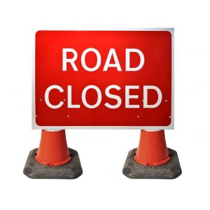 1050x750mm Cone Sign - Road Closed - 7010.1