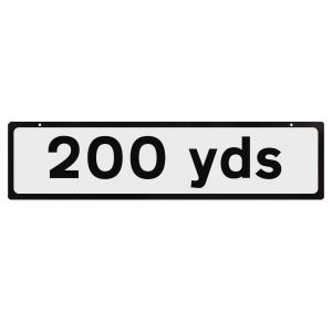 Supplementary Plate for Cone Signs - 200 yds