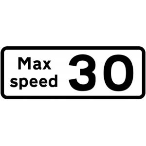Supplementary Plate - Max Speed 30