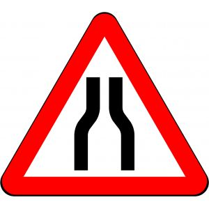 Road Narrows on Both Sides Ahead