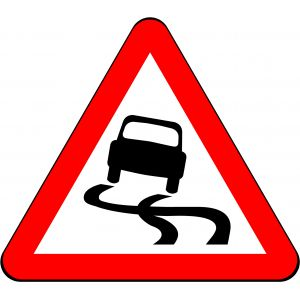 750mm Triangle - Slippery Road Surface Ahead