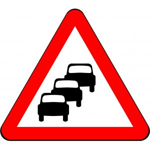 750mm Triangle - Traffic Queues Likely on Road Ahead