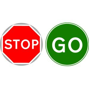 STOP/GO Board with Metal Pole - 7023 & 7024
