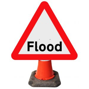 Triangle Cone Sign - Flood - 554