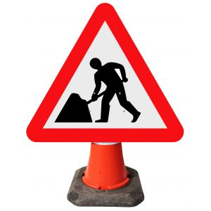 Cone Sign - Men at Work - 7001