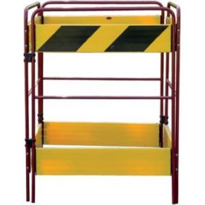 3-Gate Hazard Barrier Yellow & Black