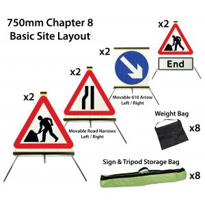 750mm Chapter 8 Roadwork Sign Pack