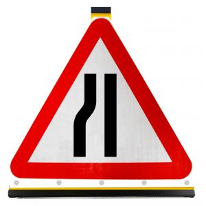 750mm Triangle - Road Narrows on Left Ahead - 517