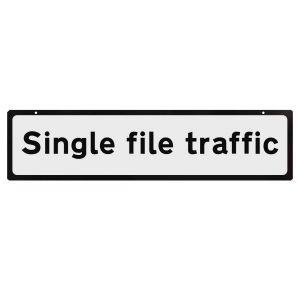 Supplementary Plate for Cone Signs Single File Traffic