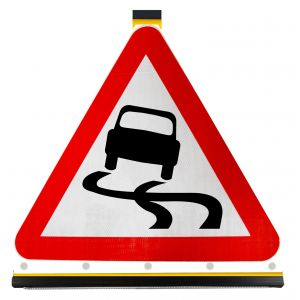 Triangle - Slippery Road Surface Ahead - 557