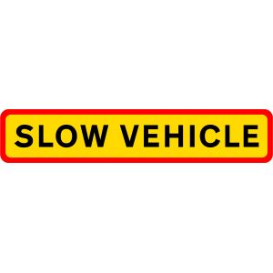 Marker Board Slow Vehicle