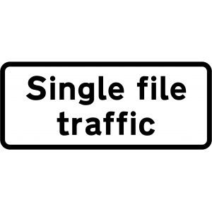Supplementary Plate - Single file traffic