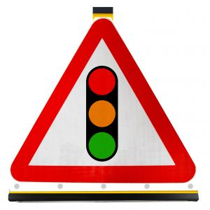 Triangle - Traffic Signals Ahead - 543