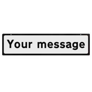 Supplementary Plate for Cone Signs - Custom