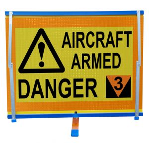F2 - Aircraft Armed Danger - Double sided