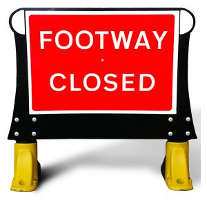 600x450mm Footway Closed  X-Sign