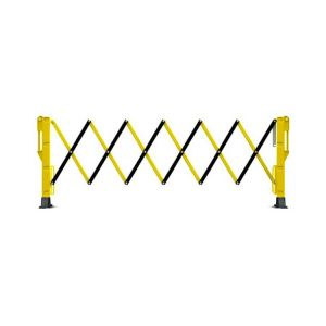 Black Yellow Expanding Barrier