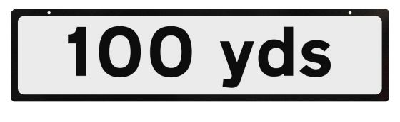 Supplementary Plate for Cone Signs - 100 yds