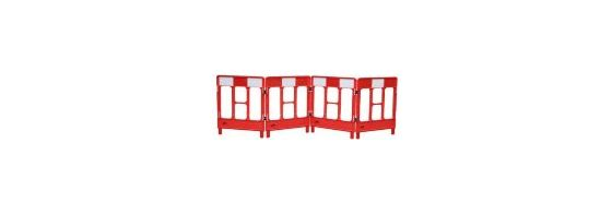 4-Gate Red and White Workgate
