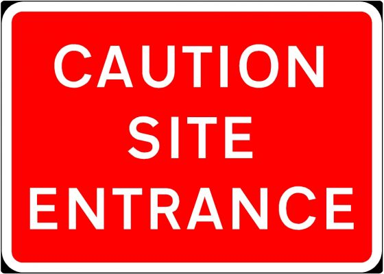 1050x750mm Caution Site Entrance - 7010.1
