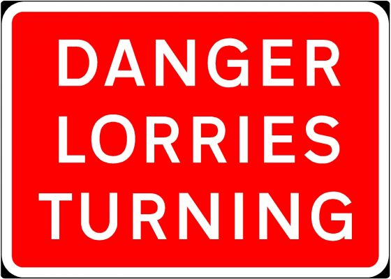 1050x750mm Danger Lorries Turning - 7010.1