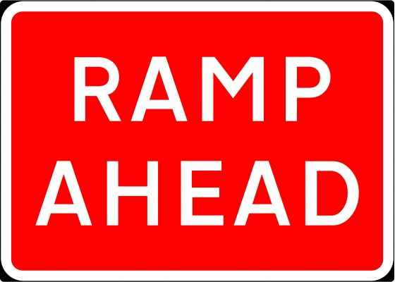 1050x750mm Ramp Ahead - 7010.1