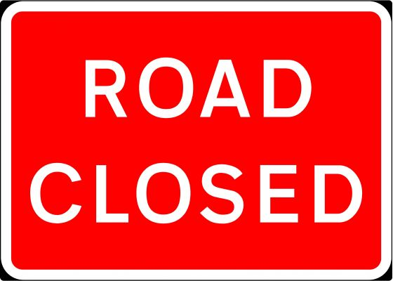 1050x750mm Road Closed - 7010.1