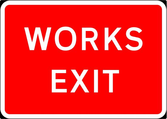 1050x750mm Works Exit - 7302