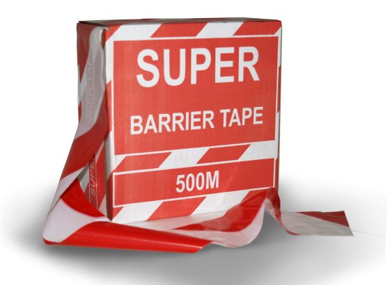 Super Red and White Barricade Tape