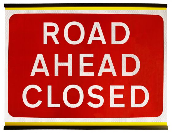 1050x750mm Road Ahead Closed - 7010.1