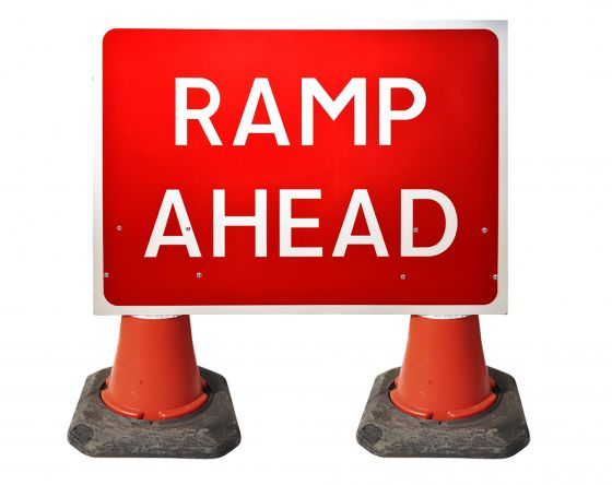 1050x750mm Cone Sign - Ramp Ahead - 7010.1