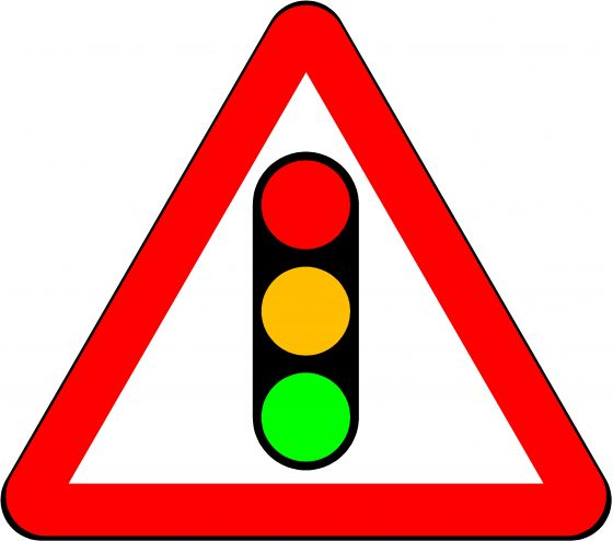 750mm Triangle - Traffic Signals Ahead