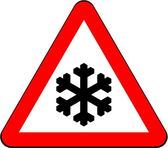 750mm Triangle - Warning Ice / Snow