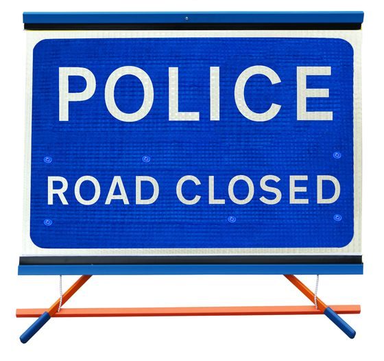 F1 - Police Road Closed
