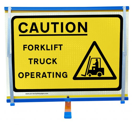 F2 - Caution Forklift Truck Operating