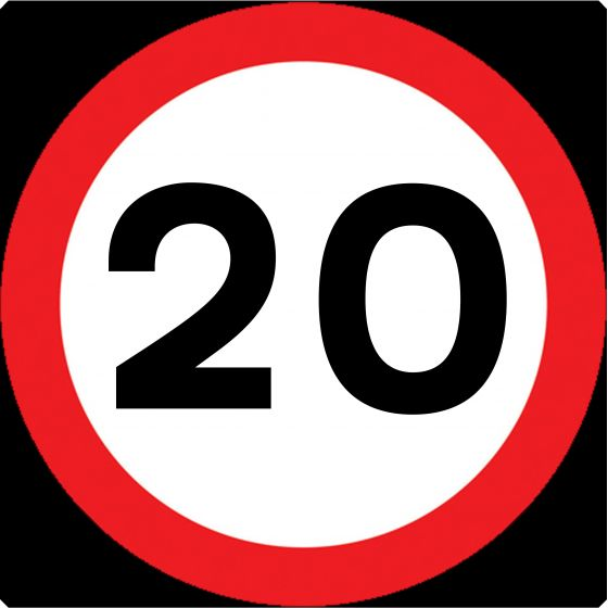 750mm Maximum Speed Limit 20mph - 670