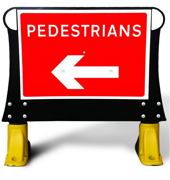 600x450mm Pedestrian Left  X-Sign