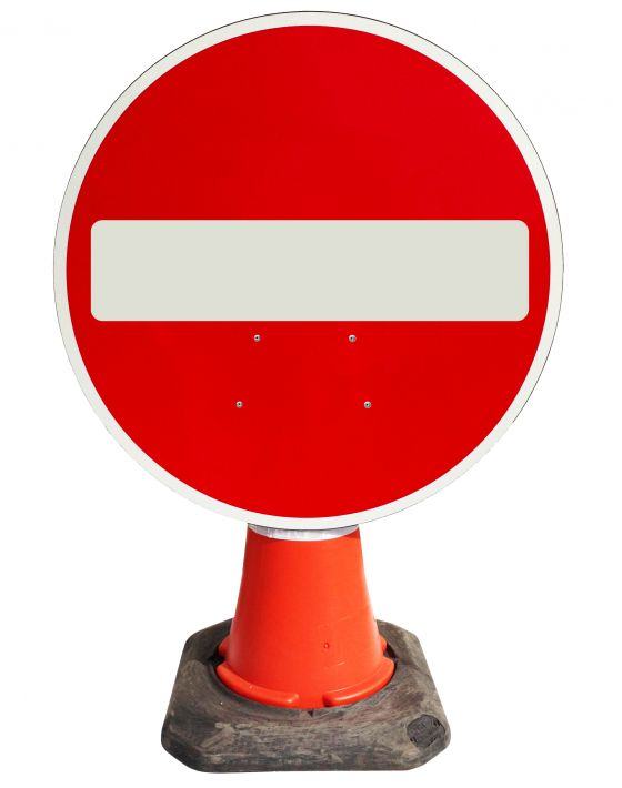 Circle Cone Sign - No Entry - 616
