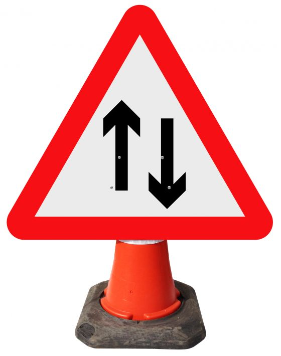 Triangle Cone Sign - Two-way Traffic - 521