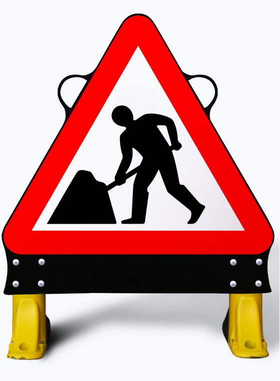750mm Men at Work X- Sign